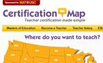 Screenshot of Certification Map lead generation website