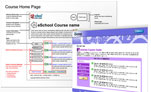 The eSchool Online LMS wireframes and screenshots