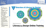 Screenshot of Rigby's 'Literacy by Design' online professional development module